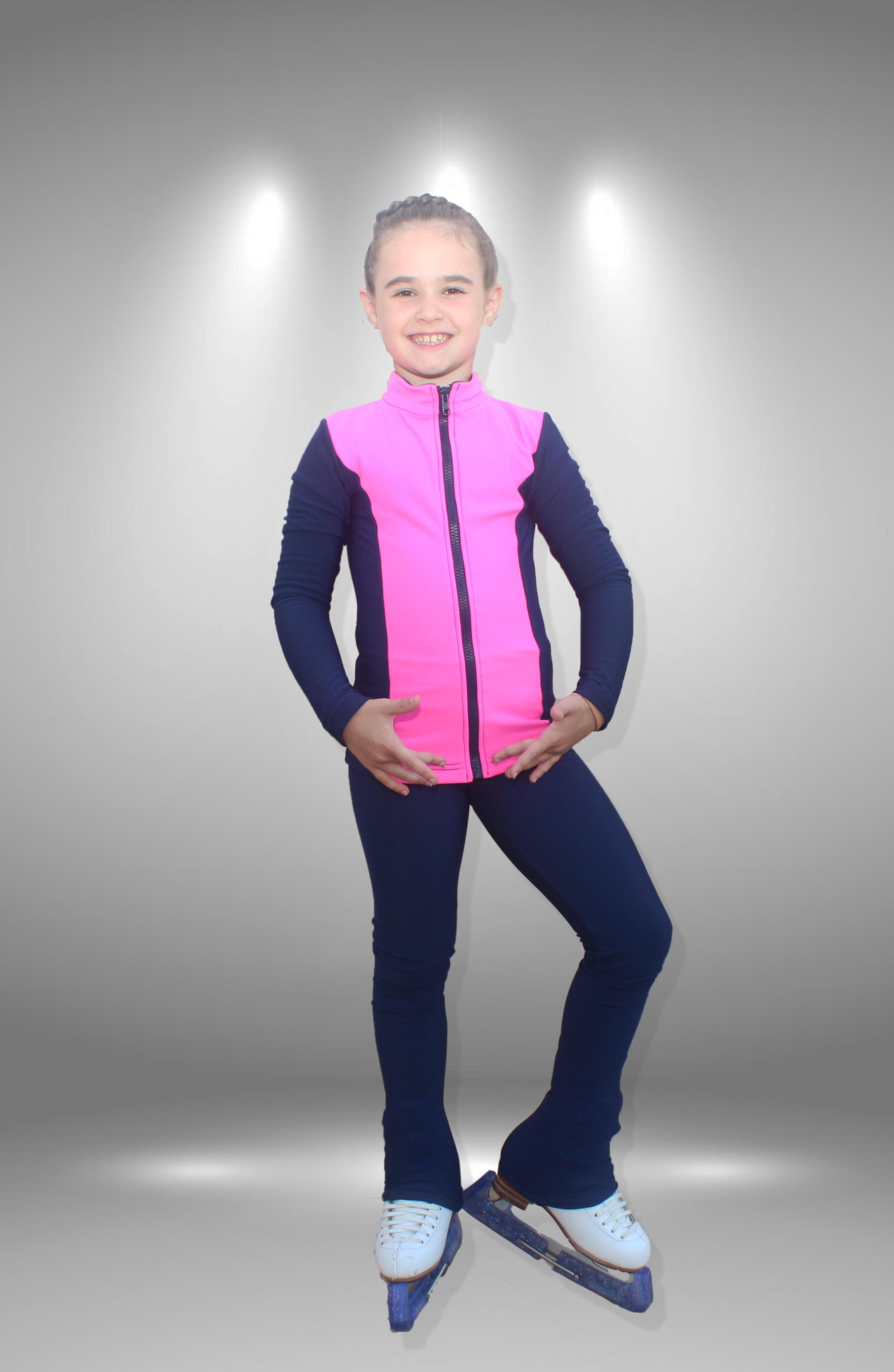 """Термо костюм для фигурного катания """"Динамика"""" сине-фиолетовый"""