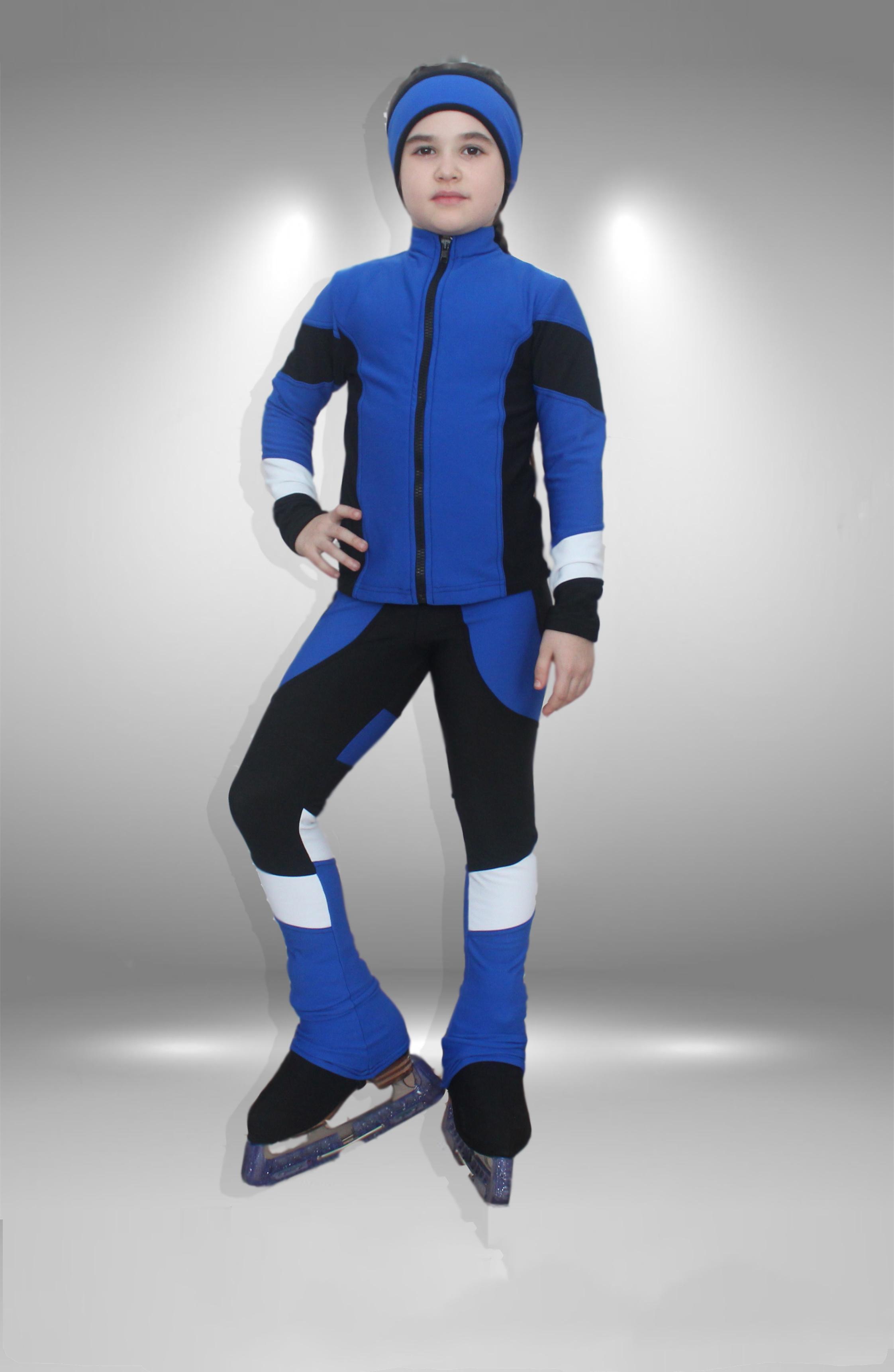 """Термо костюм для фигурного катания """"Небо"""" черно-синий"""