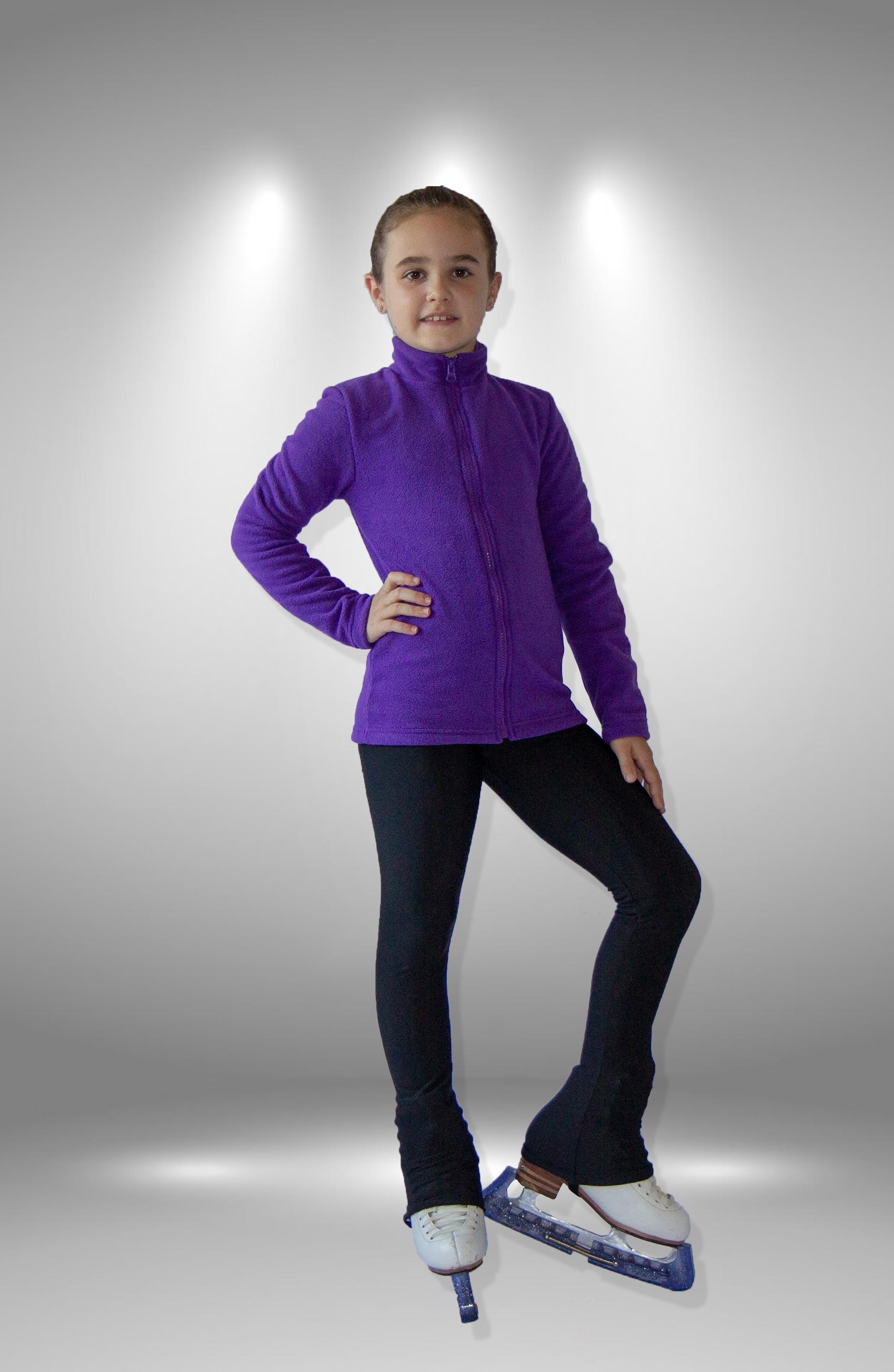 Кофта из флиса фиолетовая для фигурного катания