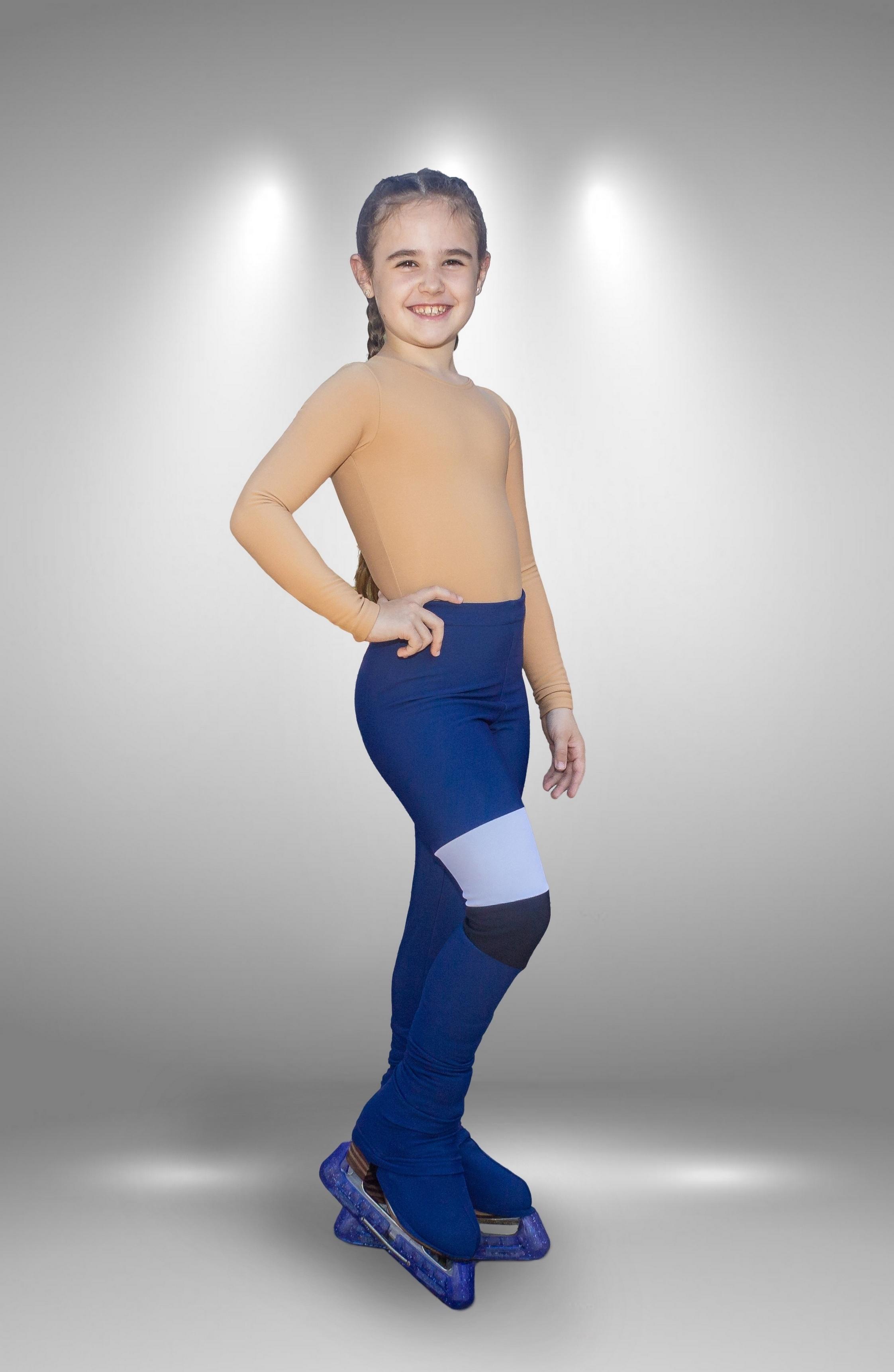 """Термо брюки для фигурного катания """"Лабиринт"""" сине-белые"""