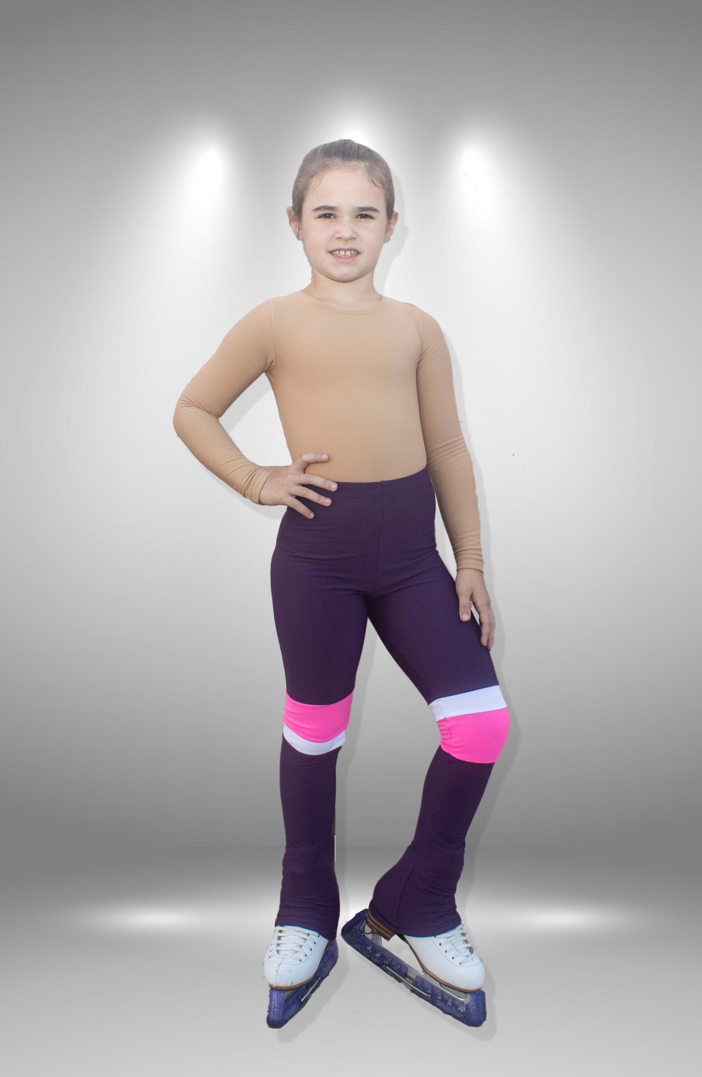 """Термо брюки для фигурного катания """"Соло"""" фиолетово-розовые"""