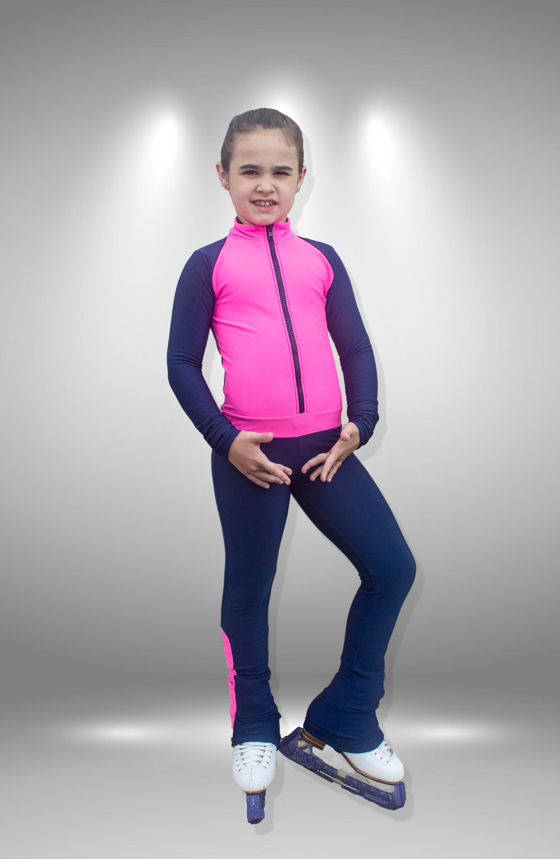 Термокомбинезон Стимул темно синий с розовым для фигурного катания