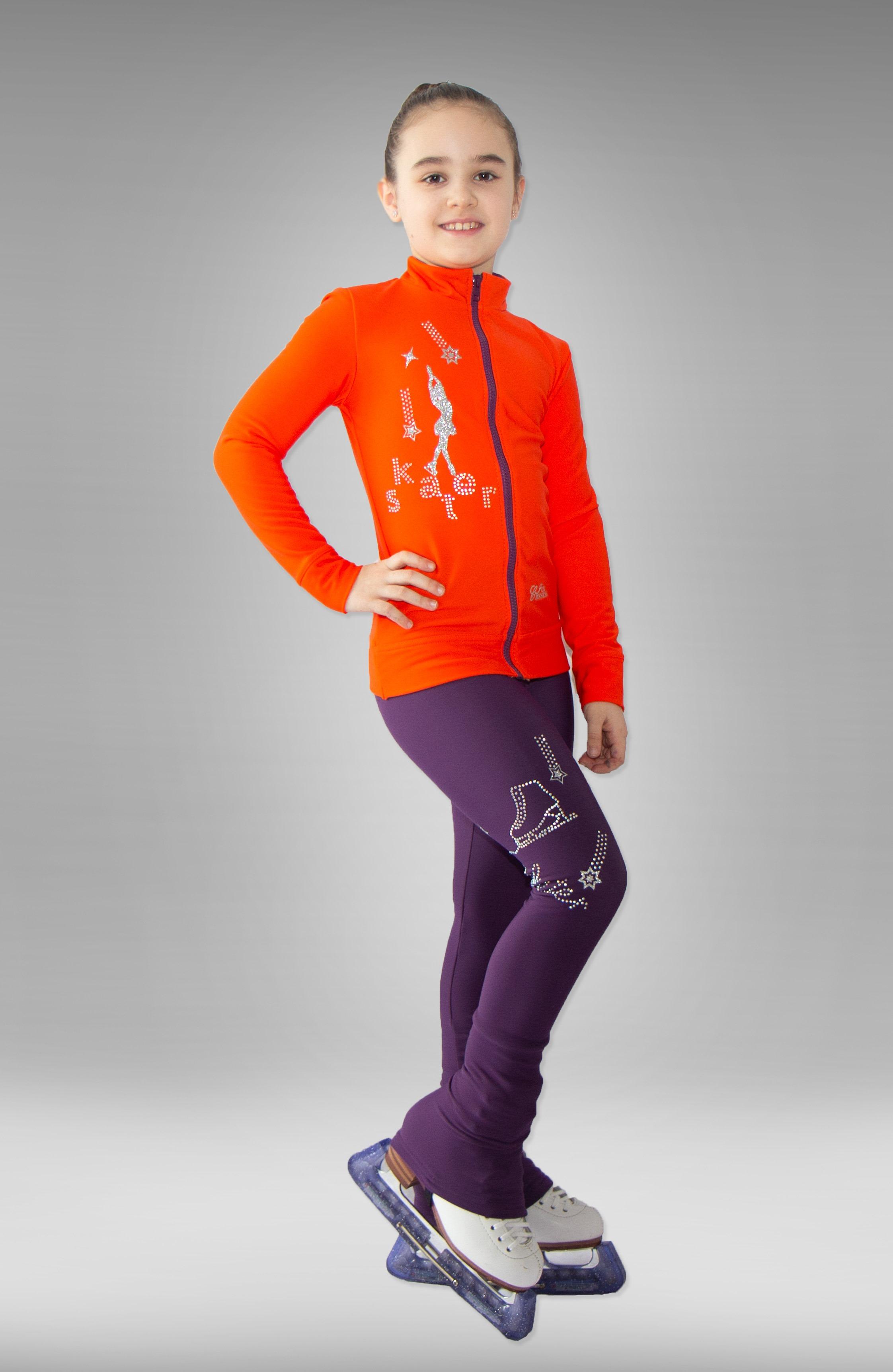 """Термокомплект для фигурного катания """"Skater"""" оранжево-фиолетовый"""