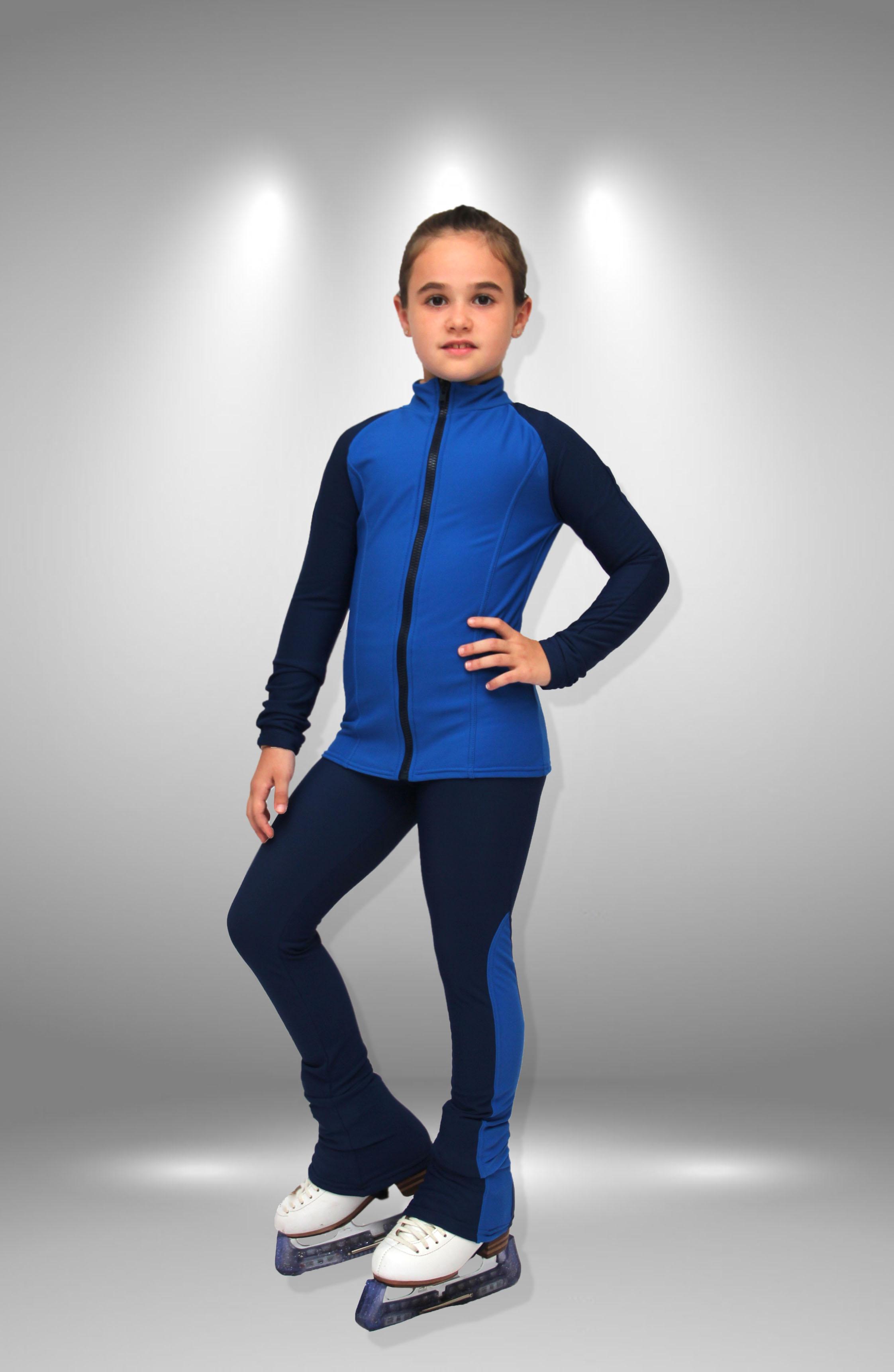 "Термо костюм для фигурного катания ""Лик"" черно-синий"