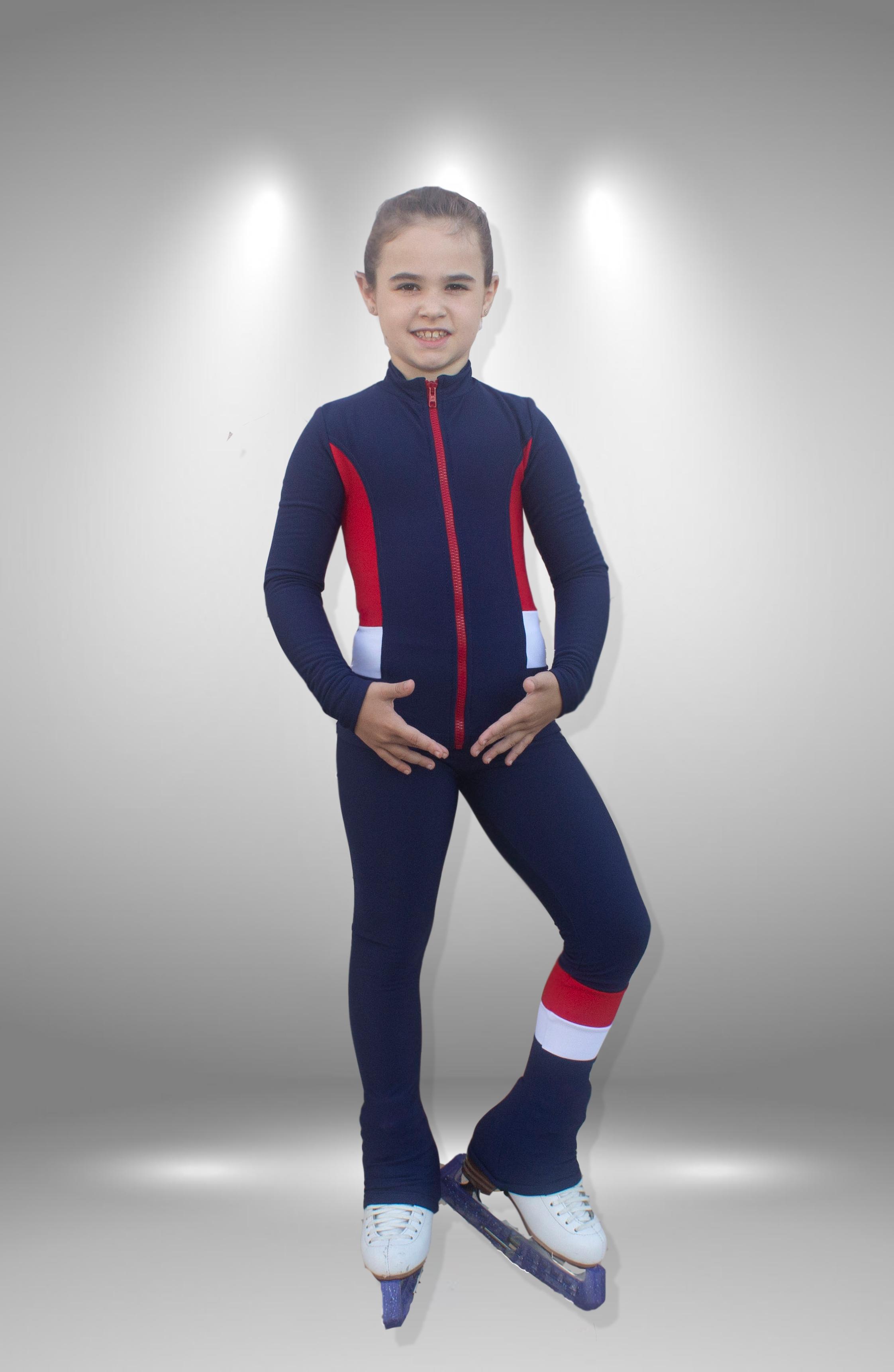 """Термо костюм для фигурного катания  """"Радуга"""" сине-красный"""