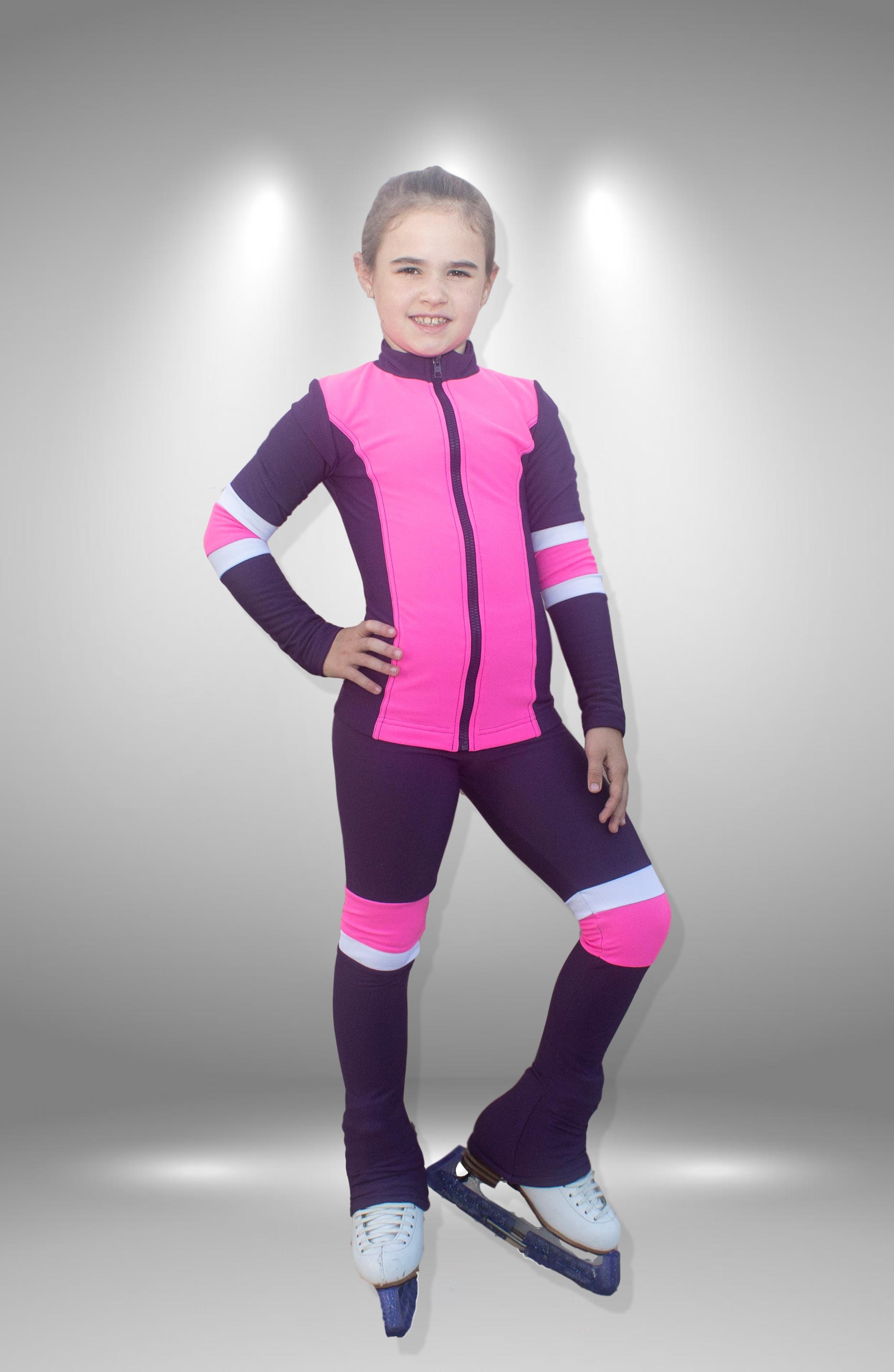 """Термо костюм для фигурного катания """"Соло"""" фиолетово-розовый"""